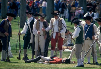 Photo: Revolutionary war re-enactment in Boston.