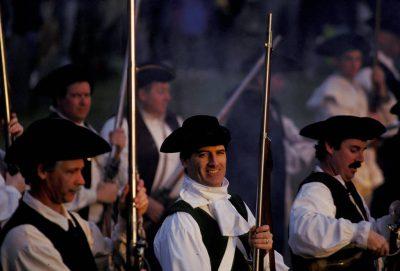 Photo: Revolutionary war re-enactment in Boston.