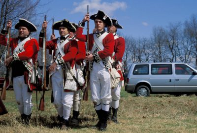 Photo: Revolutionary War re-enactment in Boston is as accurate as a modern world can make it.