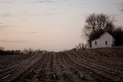 Photo: A barren field at Steven's Creek Farm in Nebraska.