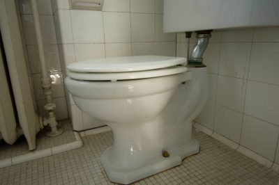 Photo: A toilet in a Nebraska home.