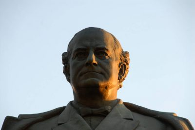 Photo: A statue of William Jennings Bryan stands near Fairview, his historic home in Lincoln, Nebraska.