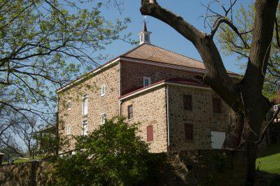 Photo: John James Audubon's boyhood home, Mill Grove, near Audubon, Pennsylvania.