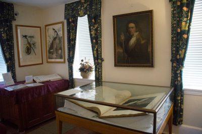 Photo: A scene inside John James Audubon's boyhood home, Mill Grove, near Audubon, PA.