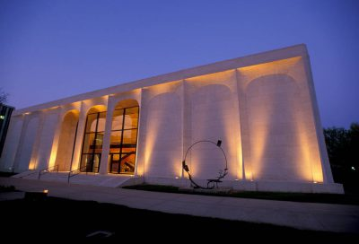 Photo: The exterior of the Sheldon Memorial Art Gallery at the University of Nebraska-Lincoln campus.