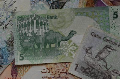 Photo: Quatar currency.