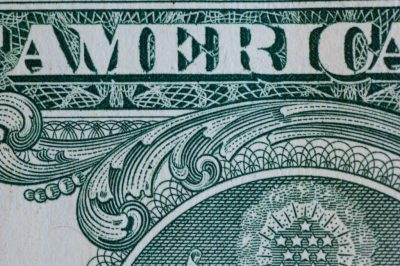 Photo: Close-up of U.S. currency.