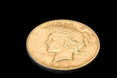 Photo: A 1921-35 Silver Peace Dollar.