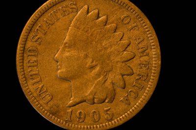 Photo: A 1864-1909 Indian Head Bronze Cent.