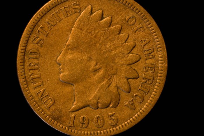 Photo: A 1864-1909 Indian Head Bronze Cent.
