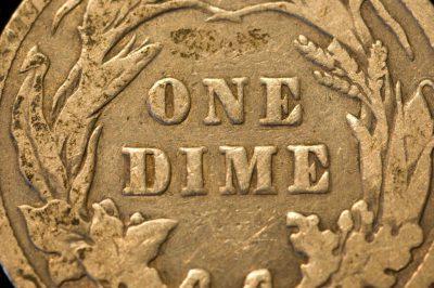 Photo: An old U.S. dime.
