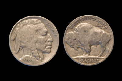 Photo: A 1913-1938 Indian Head Buffalo Nickel.