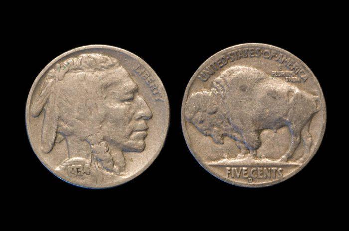 Photo: A 1913-1938 Indian Head Buffalo Nickel.