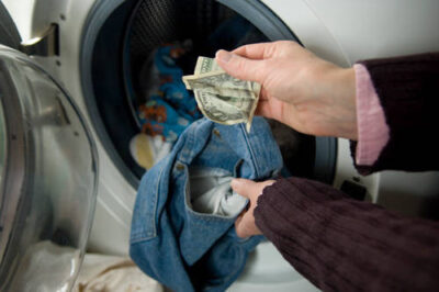 Photo: A dollar bill holds up fine after going through the washing machine.