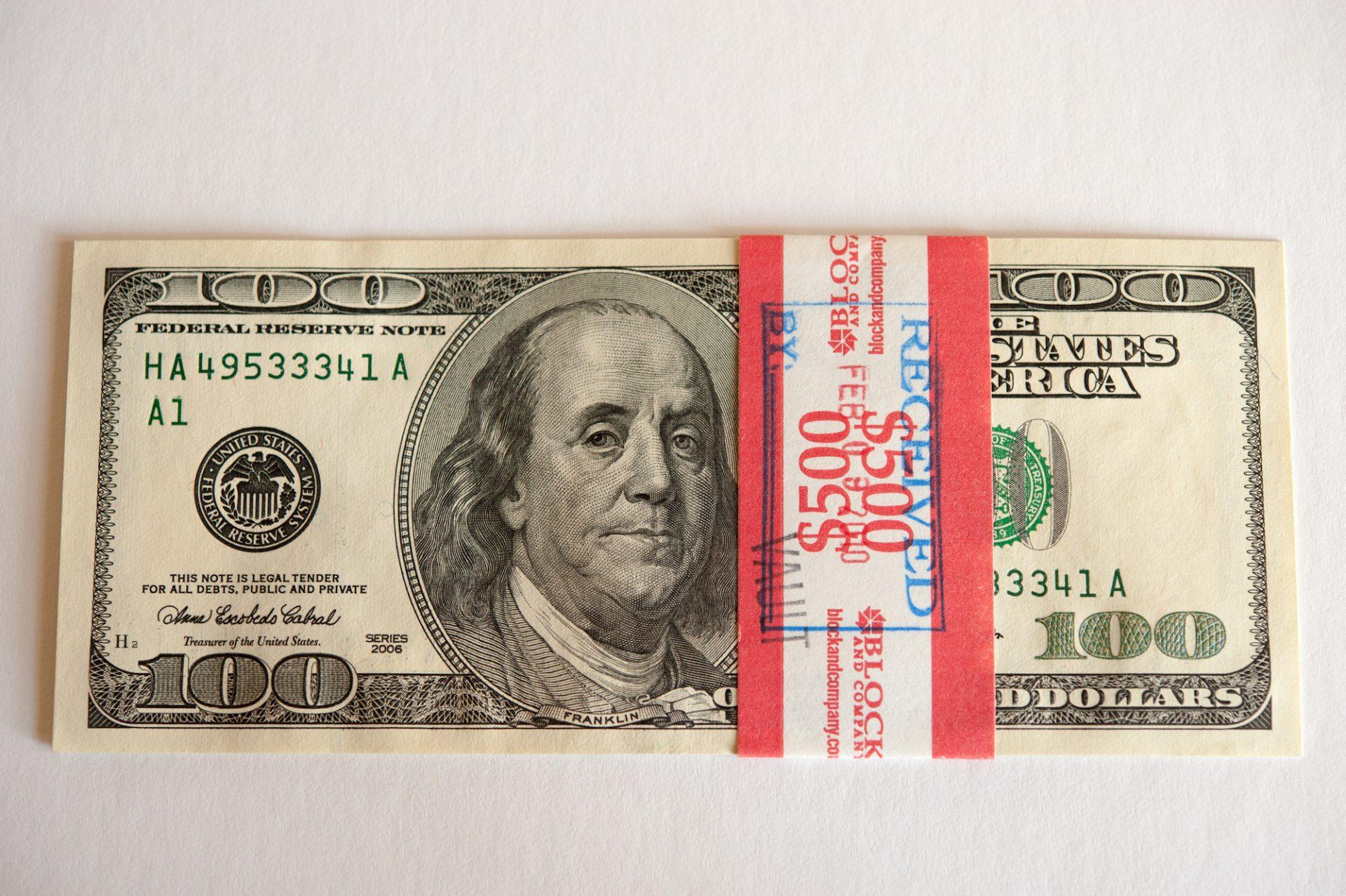 Photo: 500 dollars from the bank, Lincoln, Nebraska.