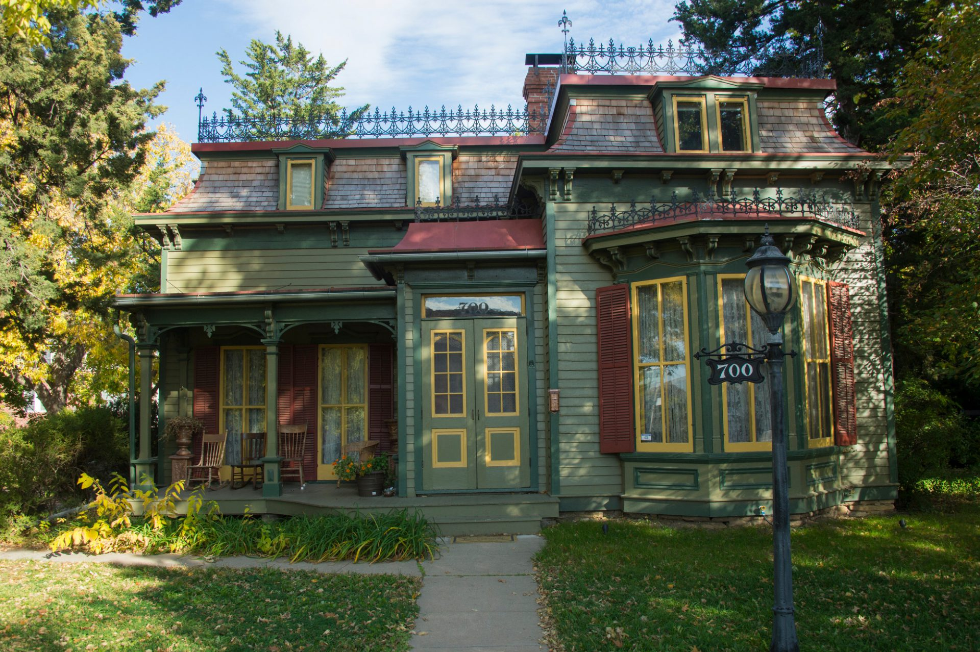 Photo: The historic Lewis-Syford house on the University of Nebraska-Lincoln campus in Lincoln, Nebraska.