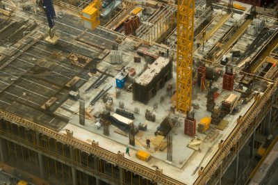 Photo: Construction of a building.
