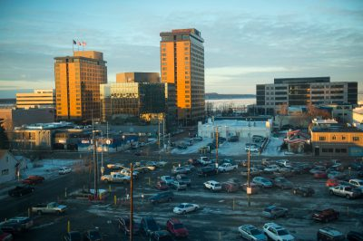 Photo: Downtown Anchorage, Alaska.