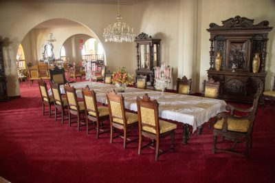 Photo: A dining room in the replica of the Taj Mahal at Parque Jaime Duque in Colombia.