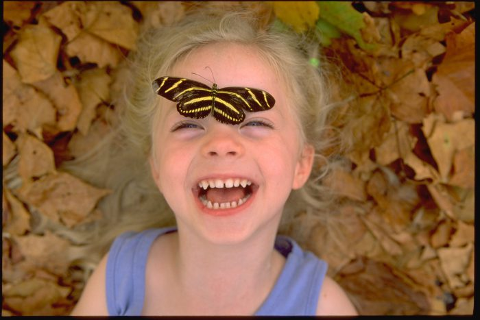 Photo: Ellen Sartore spends quality time with the insect world at the Lincoln Children's Zoo Butterfly Pavilion in Lincoln, NE.