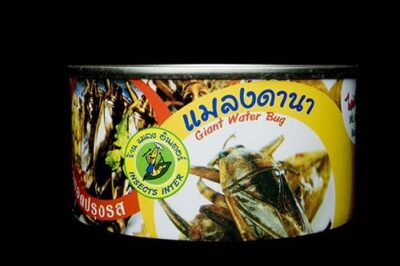 Photo: Canned insects for human consumption.