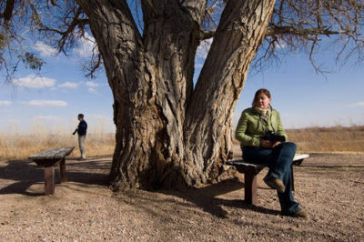 Photo: Sightseers at Bosque del Apache National Wildlife Refuge in New Mexico.