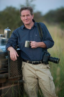 Photo: Joel Sartore at a game preserve in South Africa.