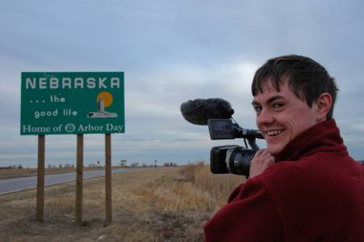 Photo: Cole Sartore videotapes his homecoming.