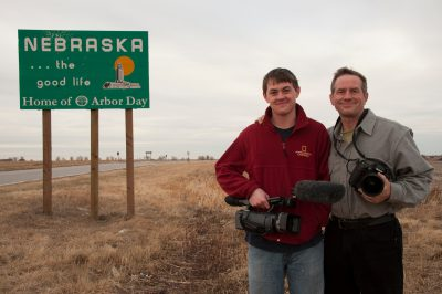 Photo: Joel and Cole Sartore arrive home at last.