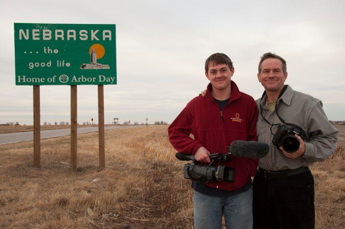 Photo: Joel and Cole Sartore arrive home at last.