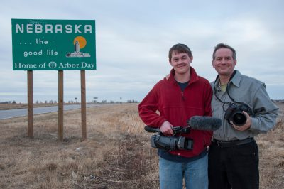 Photo: A son and father return home to Nebraska.