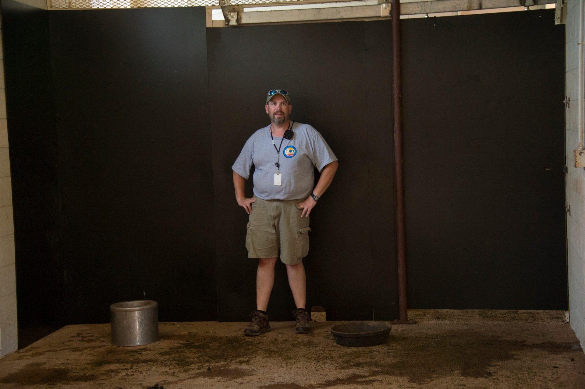 Photo: An ungulate keeper at the Oklahoma City Zoo.