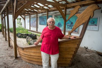 Photo: Jack Rudloe, founder of Gulf Specimen Marine Lab and Aquarium.