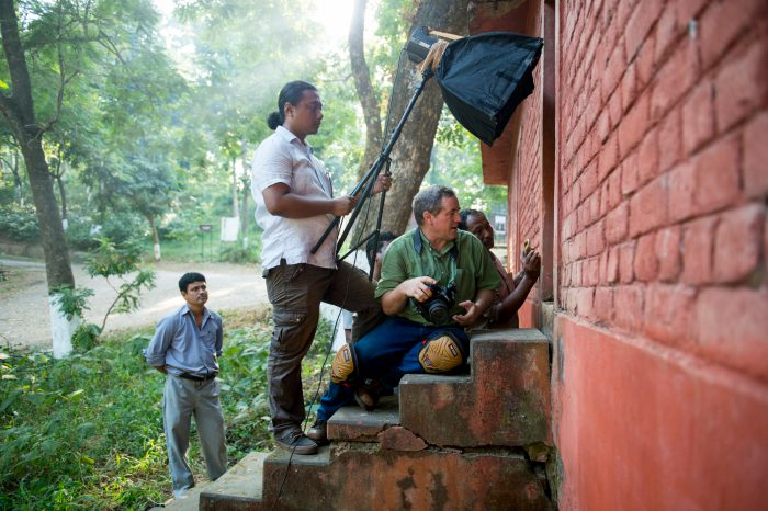 Photo: Scenes from the Ark shoot inside the reptile house at the Assam State Zoo in Guwahati, Assam, India.