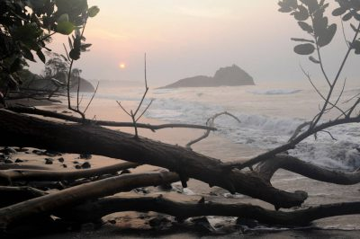 Photo: A sunrise along the southern coast of Bioko Island, Equatorial Guinea.