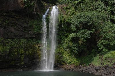 Photo: A waterfall along the coast of Bioko Island, Equatorial Guinea.