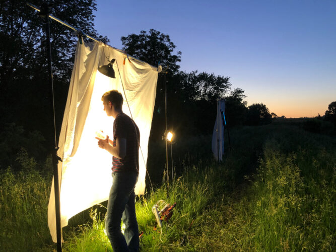 Photo: Joel Sartore's son helps to document endemic insects for the Photo Ark.