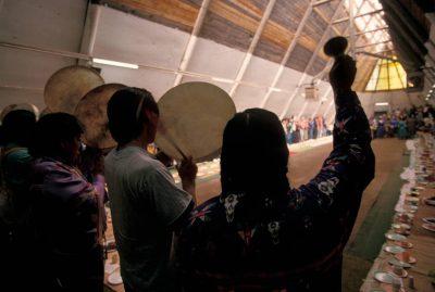 Photo: Native Americans at the First Salmon Ceremony near Celilo, Oregon.
