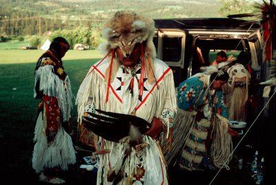 Photo: A dancer at the Nez Perce pow wow in Lemhi, Idaho.