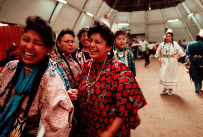 Photo: Scene from the First Salmon Festival and pow wow, a Native American celebration in Celilo, OR.