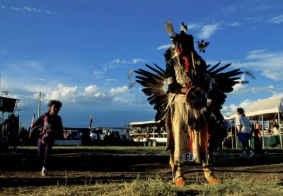 Photo: Scene from the Northern Ute Rodeo and Pow Wow Contest near Fort Duchesne, Utah.