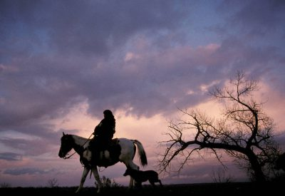 Photo: A young Ute girl on horseback near Ouray, Utah.