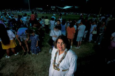 Photo: Wilma Mankiller, the first Principal Chief of the Cherokee Nation, at the Cherokee National Holiday in Tahlequah, OK.