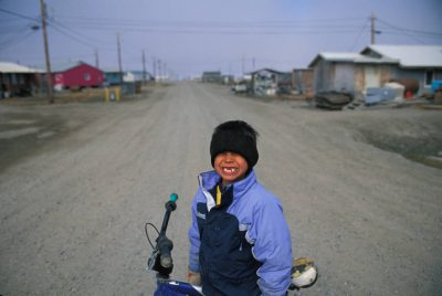 Photo: An Alaska native boy in Kaktovik.
