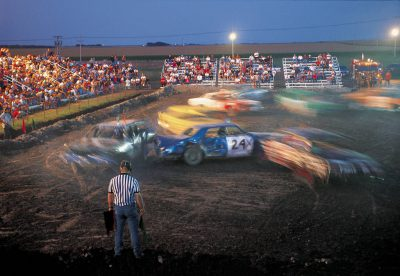 Photo: The Phelps County (NE) Fair's demolition derby always draws a good crowd.