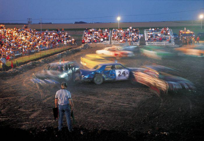 Photo: The Phelps County (NE) Fair's demolition derby always draws a good crowd.
