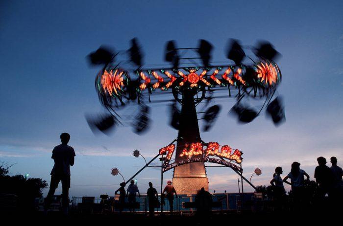 Photo: The Zipper lights up the sky at the Sarpy County Fair in Nebraska.