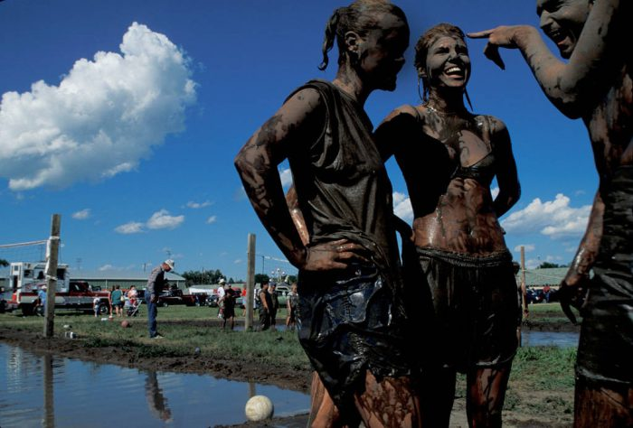 Photo: Mud volleyball in Ogallala, NE.
