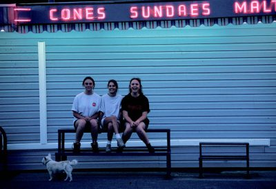 Photo: Three girls outside an ice cream shop in Salina, Utah.