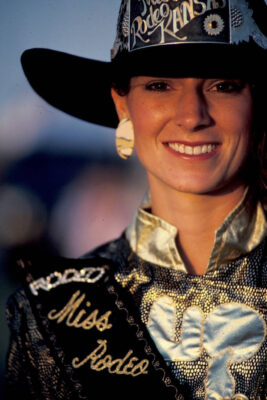 Photo: Kelly Freitag, Miss Rodeo Kansas, before the Pretty Prairie, KS Rodeo.